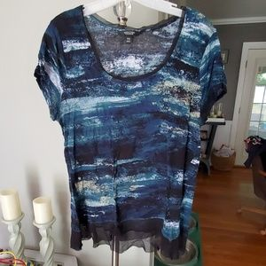 Vera Wang Sheer Top